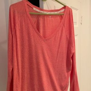Coral oversized Stem sweater